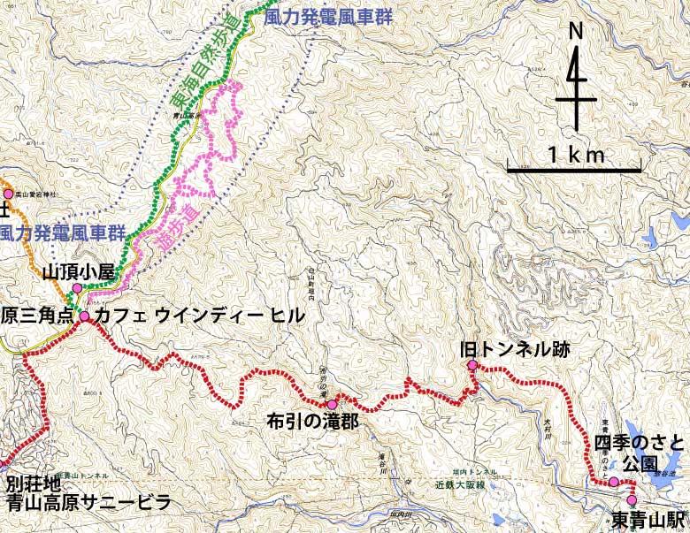 東青山駅からのハイキングコース