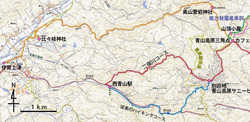西青山駅からのハイキングコース